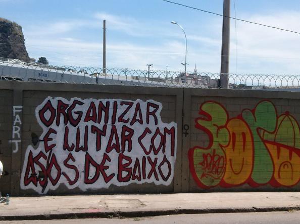 Organizar e lutar com as/os de baixo. Muralismo na cidade do Rio de Janeiro.